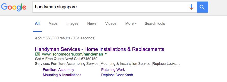 google ad singapore