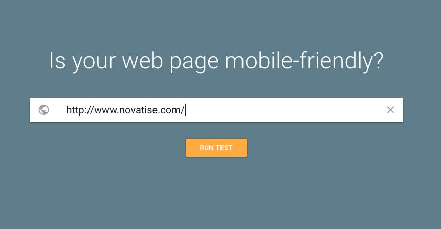 mobile friendly google test