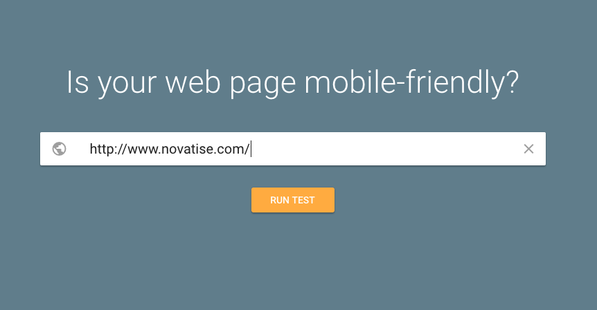 mobile friendly google test