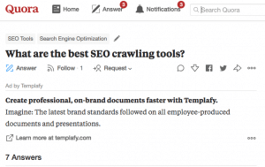 quora seo crawler answer