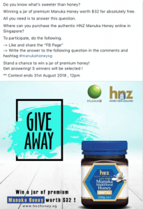 good facebook giveaway singapore
