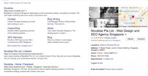 google search on novatise