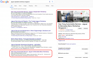 novatise local seo case study for car workshop singapore