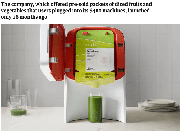 product market fit case study - juicero